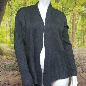 POINTELLE OPEN CARDIGAN SWEATER (SIZE LARGE)